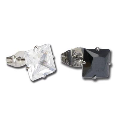 Paire bijou cristal carré